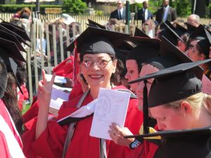 "Ellen Young achieving her ""American Dream"" and graduating with a master's degree at 58."
